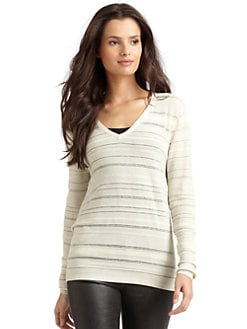 Kimberly Ovitz - Variegated Stripe Open-Back Sweater