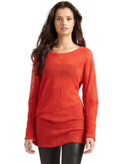 Kimberly Ovitz - Basket Weave Knit Tunic Top