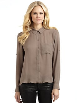 Chelsea Flower - Silk Open-Back Blouse