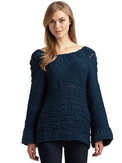Twinkle by Wenlan - V-Back Chunky Sweater