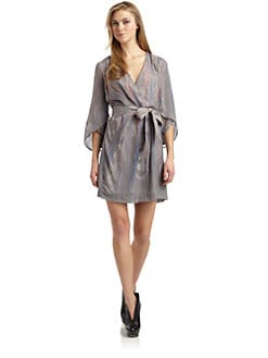Twinkle by Wenlan - Wispy Print Silk Dress