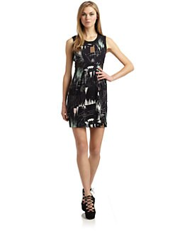 Twinkle by Wenlan - Silk Tibet Print Sleeveless Dress