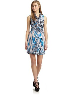 Twinkle by Wenlan - Silk Storm Print Sleeveless Dress