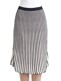 BCBGMAXAZRIA - Pintucked Jersey Skirt