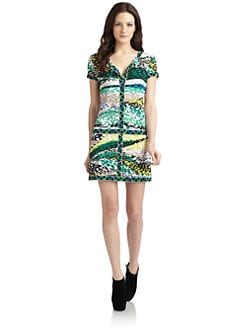 BCBGMAXAZRIA - Daly Printed Stretch-Jersey Dress