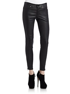Cut 25 by Yigal Azrouel - Stretch Leather Skinny Pants