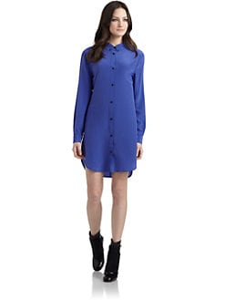 Cut 25 by Yigal Azrouel - Washed Silk Crepe de Chine Shirtdress