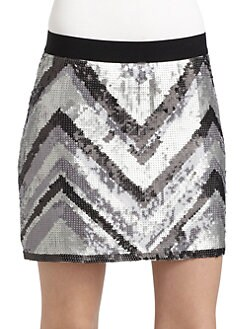 BCBGMAXAZRIA - Sequined Skirt
