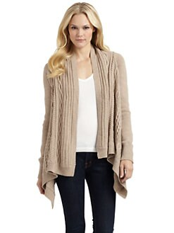 BCBGMAXAZRIA - Cabled Wrap Sweater