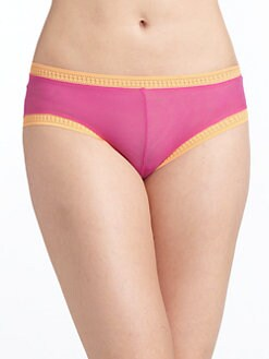 OnGossamer - Colorblock Boy Shorts/Pink & Orange