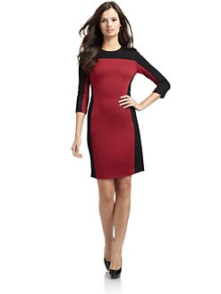 Cynthia Steffe - Selma Two-Tone Ponte Knit Dress