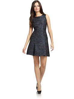 Cynthia Steffe - Blair Metallic-Sparkled Dress