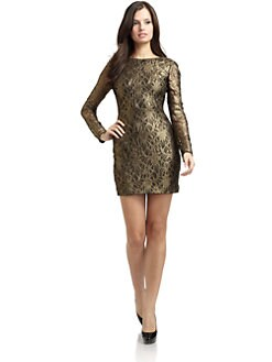 Cynthia Steffe - Lydia Metallic Venetian Lace Dress