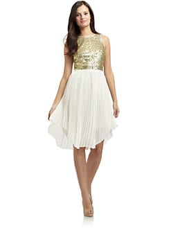 Cynthia Steffe - Malena Sequined & Pleated Dress