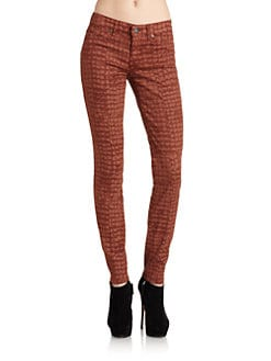 Rich and Skinny - Crocodile Print Skinny Jeans