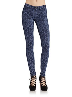 Rich and Skinny - Python Print Skinny Jeans/Coastal