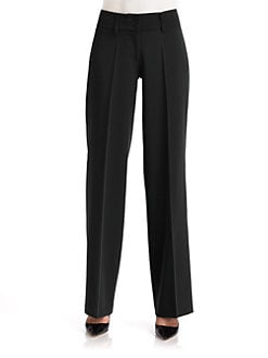 Cambio - Tracey Fluid Leg Crepe Trousers/Black