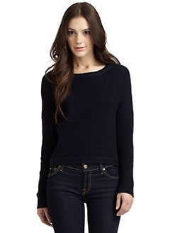 Qi New York - Fairport Cashmere Ribbed Sweater
