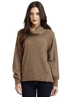 Qi New York - Cashmere Donegal Cowlneck Sweater