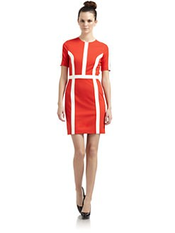 Cynthia Steffe - Larissa Colorblock Stripe Dress