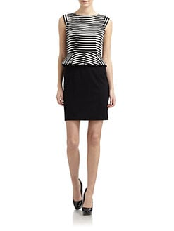 Cynthia Steffe - Dylan Striped Peplum Dress