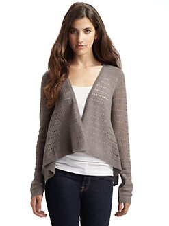 vkoo - Pointelle Open Cardigan