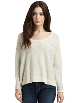 Qi New York - Shimmer Boucle Sweater