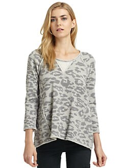 Rebecca Taylor - Cotton Leopard Raglan Sweatshirt