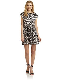Rebecca Taylor - Leopard Tie-Front Dress
