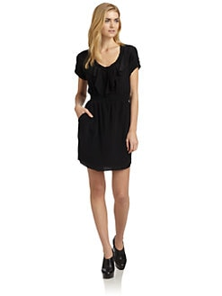 Rebecca Taylor - Silk Ruffled Bib Dress