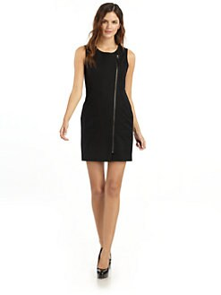 Hanii Y - Zip-Front Dress with Open Back