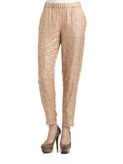 Elizabeth and James - Gilded Silk Chiffon Pants