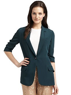 Elizabeth and James - Silk Gabardine Blazer