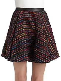 Torn - Charlotte Boucle Pleated Skirt