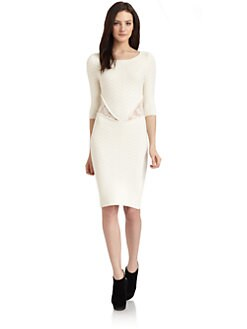 Torn - Cynthia Knit Lace Cutout Dress