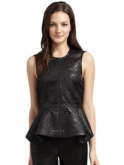 Elizabeth and James - Brocade Peplum Top