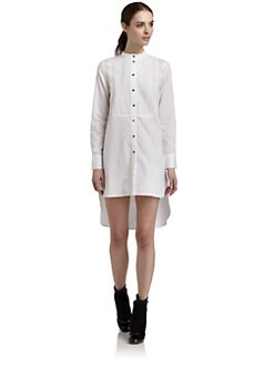 Elizabeth and James - Crisp Cotton Tuxedo Shirtdress
