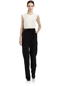 Elizabeth and James - Silk Crepe Two-Tone Jumpsuit