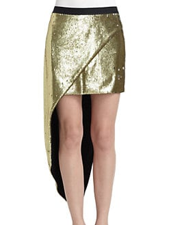 Kimberly Ovitz - Sequined Hi-Lo Skirt