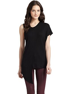 O by Kimberly Ovitz - Ultra-Soft Asymmetrical Knit Top