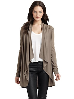 O by Kimberly Ovitz - Draped Open-Front Knit Cardigan