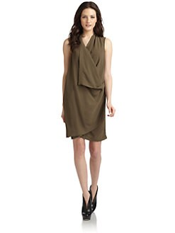 Kimberly Ovitz - Drape-Front Crepe Dress