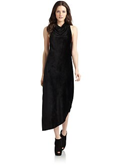 Kimberly Ovitz - Stretch Velveteen Long Dress