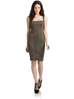 Kimberly Ovitz - Trapunto-Textured Sleeveless Knit Dress