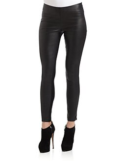Catherine Malandrino - Leather Panel Ponte Pants
