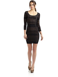 Catherine Malandrino - Pointelle Knit Scoopneck Dress