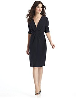 Giorgio Armani - Deep V Silk Dress