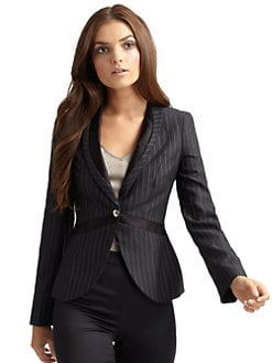 Giorgio Armani - Pinstripe Single-Breasted Jacket