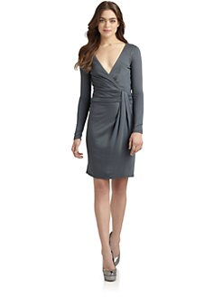 Halston Heritage - Mock Wrap Dress