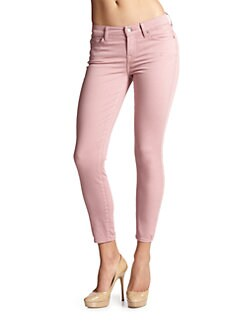 7 For All Mankind - Gwenevere Colored Cropped Skinny Jeans